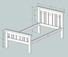 2x4 Mission Style Bed