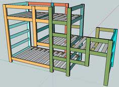 Build a Triple Bunk Staggered Beds | Free and Easy DIY Project and Furniture Plans