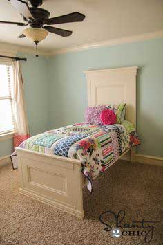 Build a Twin Panel Bed | Free and Easy DIY Project and Furniture Plans
