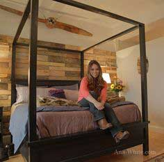Build a Saving Alaska Farmhouse Canopy Bed | Free and Easy DIY Project and Furniture Plans