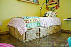 Build a Rustic Storage Bed with Doors | Free and Easy DIY Project and Furniture Plans
