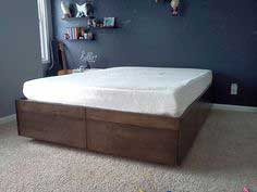 Platform Bed with Drawers tutorial