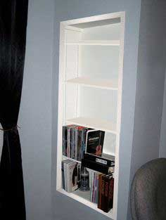 Create Recessed Shelving