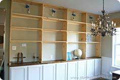 DIY Built-in Shelving