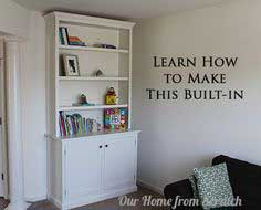 How to Make a Built-In Cabinet