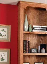 Handsome Built-In Bookcase