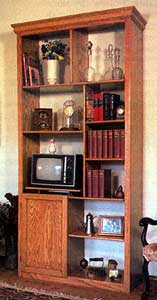 Boxed Bookcase with Cabinet