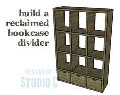 Reclaimed Bookcase Divider