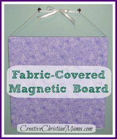 Fabric-covered magnetic board