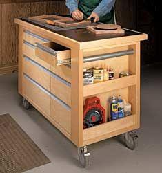 Roll-Around Work Cart Tutorial