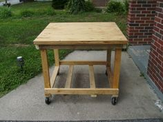 Tutorial - tool cart made with salvaged wood