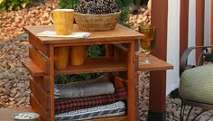 Outdoor table on wheels – Tutorial