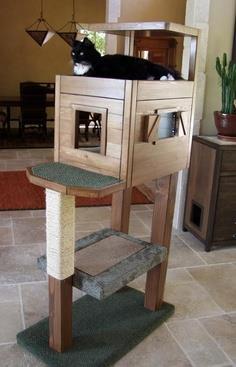 Cat Tree Plans Scratching Posts Platforms Ladder