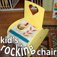 Child Chair Plans Adirondack Chair Rocker Upholstered
