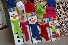 Hinged Wooden Snowman Family tutorial