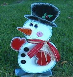 How to Make a Wooden Snowman for Your Front Yard