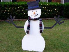 How to Build a Wooden Snowman