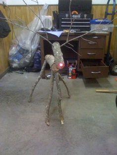 Make Wooden Reindeer from Tree Branches
