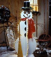 Happy Lighted Snowman tutorial