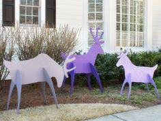 Make Easy-to-Store Holiday Yard Reindeer