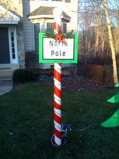 North Pole Christmas Decoration tutorial