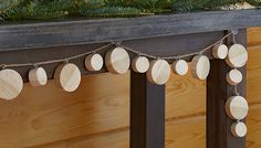 Garland made from dowel disks.