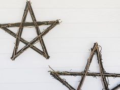 Create a North Star Outdoor Wall Hanging With Yardsticks