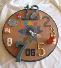 Functional Found Art Assemblage- Clock tutorial