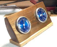 Desk Clock/Thermometer made from walnut, scrap, cutoff piece – tutorial
