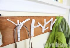 Branches Made Into Coat Rack