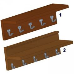 Vintage wall stand with coat hooks plans