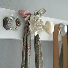 Coat Rack Out of Knobs