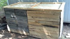 2 Compartment Wooden Compost Bin