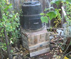 Vertical 2 stage composter