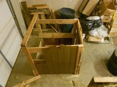 Wooden compost box