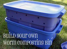 Build A Worm Compost Bin