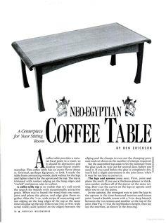 Neo-Egyptian Coffee Table