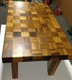 Custom Coffee Table Made From Recycled Teak Wood DIY