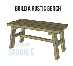 Build a Rustic Bench