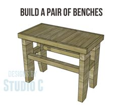 Build a Pair of Benches