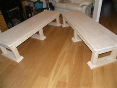 Solid wood bench Tutorial