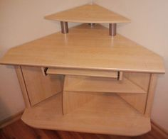 corner desk with a worn and old furniture – tutorial