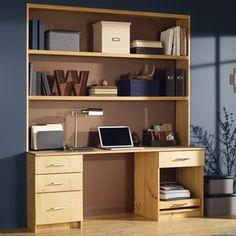 Desk with bookcase plans