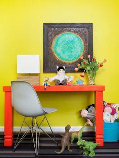 Vibrant Children's Desk tutorial
