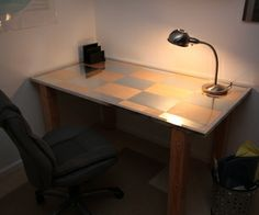 Birch and Aluminum Desk tutorial