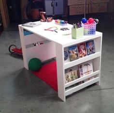 Kids Storage Leg Desk tutorial