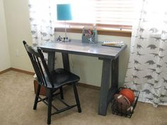 Simple Small Trestle Desk tutorial