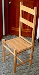 Chair from a 2 x 4