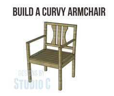 Build a Curvy Armchair