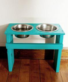 Colorful DIY Dog Bowl Stand